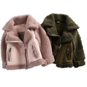 Image 1 - New Girls And Boys Coats  Winter Fur fleece jackets Unisex  kids Outwear  Girls Jacket 7CT069