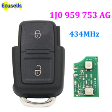 1J0959753AG Remote Key Control fob 2 button 433Mhz for VW Volkswagen Bora Beetle Passa Golf for Seat for Skoda 1J0 959 753 AG(China)