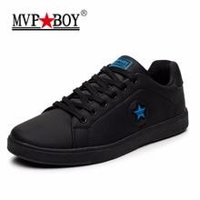 MVPBOY Брендовые мужские вулканизируют Обувь 2017, Новая мода весна черный повседневная обувь Мужская дышащая обувь на плоской подошве, на шнуровке мужские вулканизируют Обувь