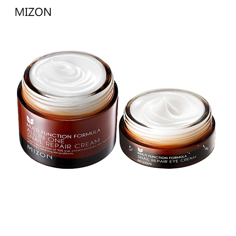 MIZON All In One Snail Repair Cream 50ml + MIZON Snail Repair Eye Cream 25ml Facial Cream Face Skin Care Best Korea Cosmetics