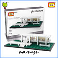 Mr.Froger LOZ Mini Blocks Farnsworth House Model Bricks Building Blocks World Famous Architecture Educational Toys For Children