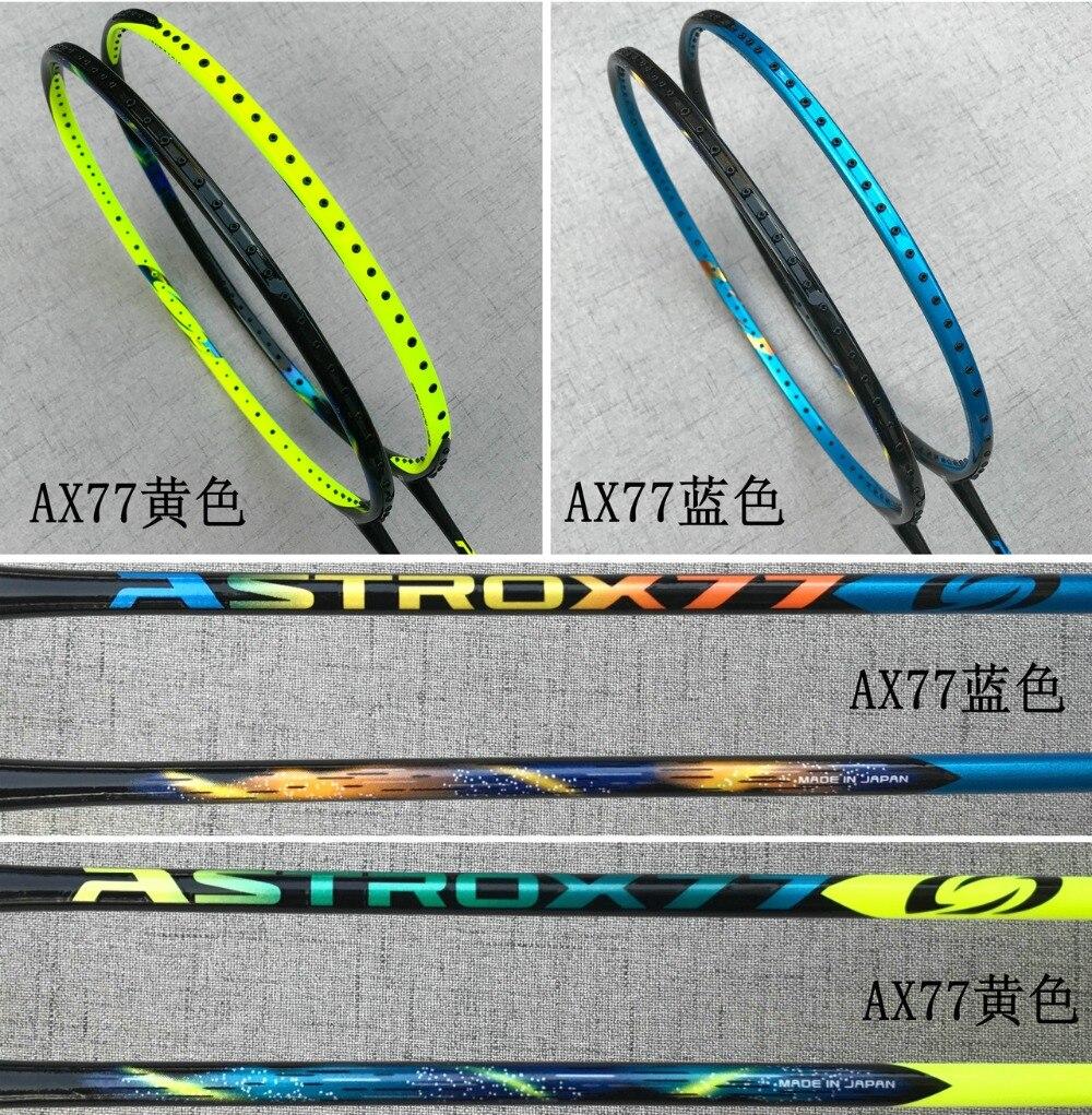 Sports de raquette Badminton Raquettes Astrox 77 bleu et vert badminton raquette rakieta