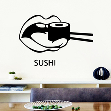 Modern sushi Self Adhesive Vinyl Wallpaper vinyl Stickers Decoration Accessories Murals
