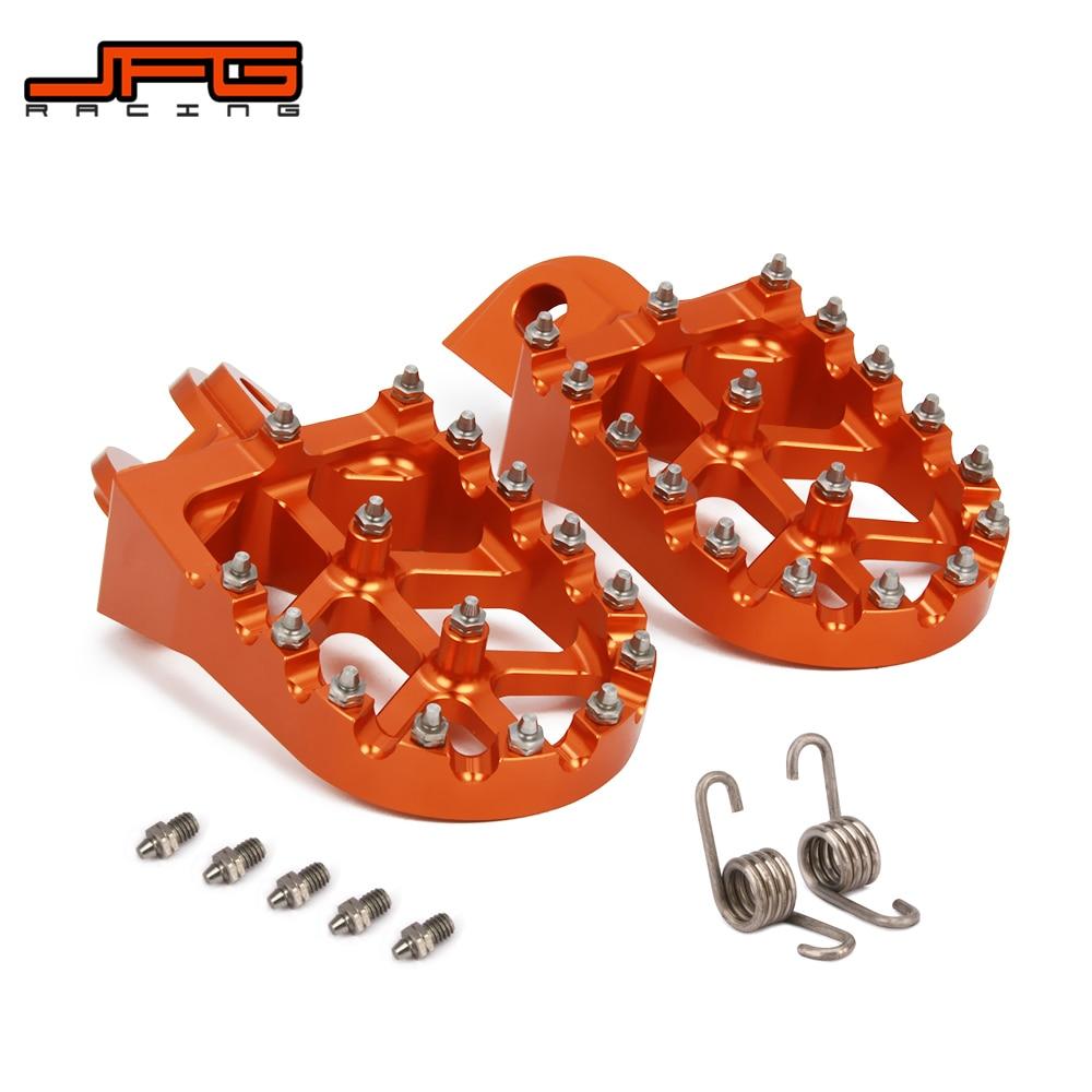 Motocicleta CNC Pé Pegs Pedais Repousa Para KTM SX SXF EXC XCF EXCF XCW XCFW 65 85 125 150 250 300 350 400 450 530 AVENTURA