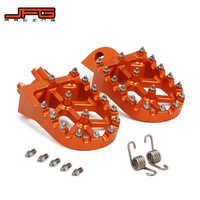 Motocicleta CNC pie clavijas pedales reposapiés para KTM SX SXF EXC EXCF XCF XCW XCFW 65 85, 125, 150, 250, 300, 350, 400, 450, 530 la aventura