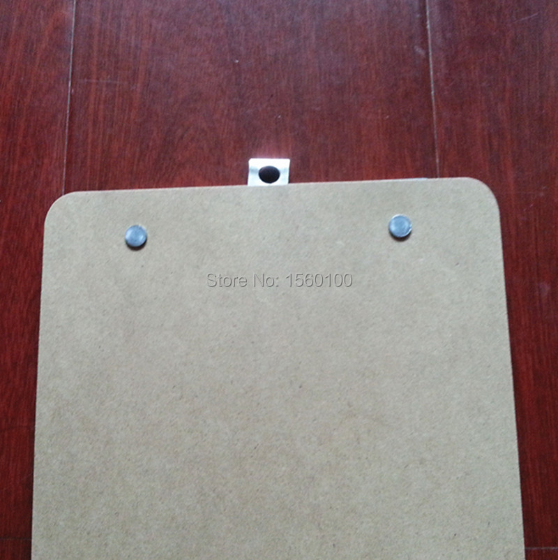 Free Shipping(6pcs/lot) A5 MDF writing clipboard Plywood Wooden file clip board portable menu clipboard sub-plate folder
