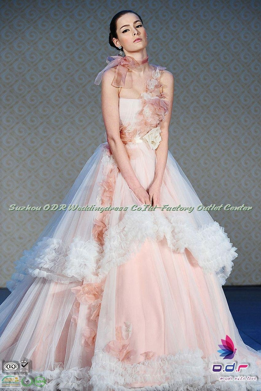 2012A+++New Design!!Diaphanous Ball Gown in Tulle and Silk Organza ...