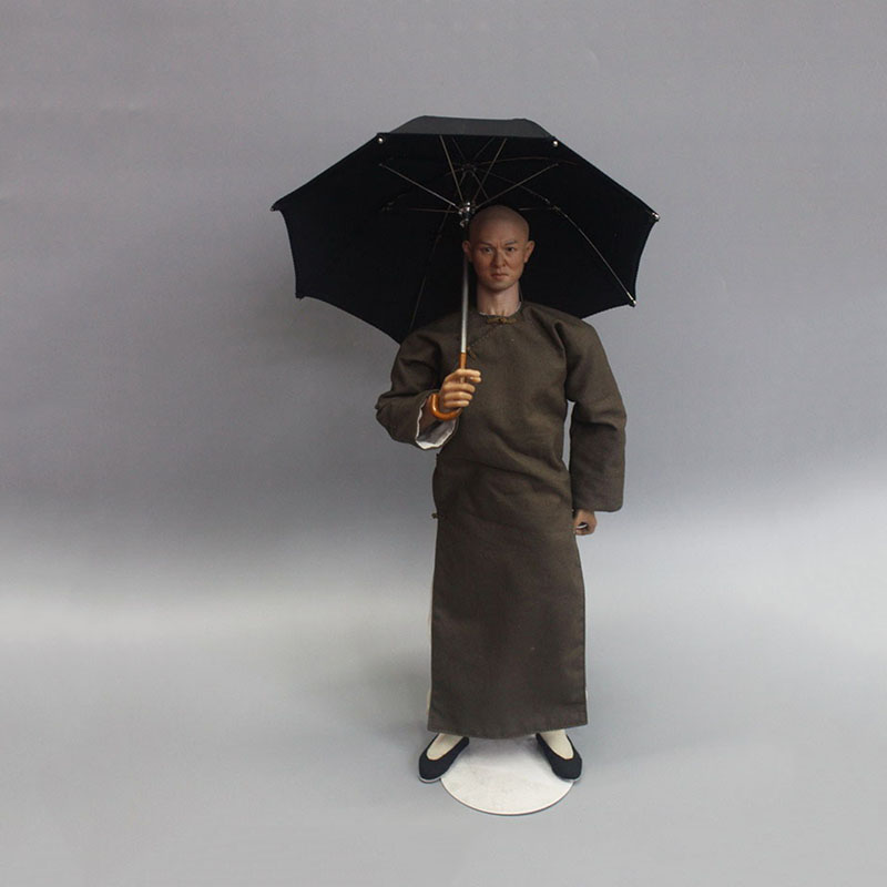 For Collections  1/6 Scale Black Umbrella Model About 17cm ZY3003 Fit 12