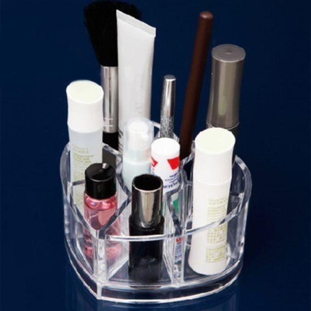 NC Love heart Clear Acrylic Makeup Organizer Cosmetic Storage