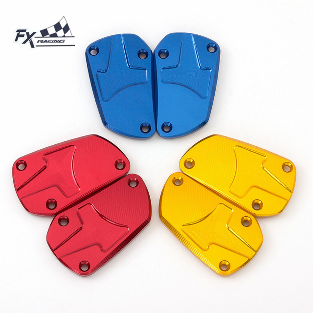 FXCNC Aluminum Motorcycle Master Cylinder Front Brake Clutch Fluid  Reservoir Cover Cap For Aprilia SHIVER DORSODURO 900 2017