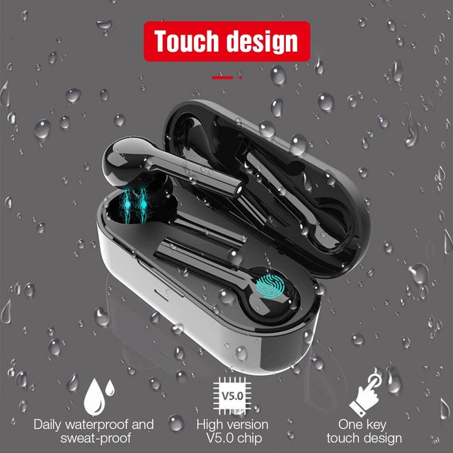 TOMKAS Mini TWS Bluetooth Wireless Earphone Headphones Freebud Touch Control Sport Headset With Dual Microphone For Mobile Phone 3