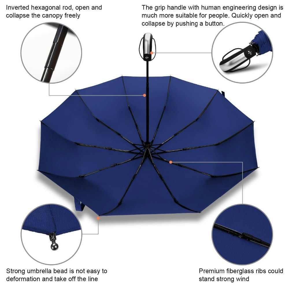 6285f32ce413b ... Fully-automatic Folding Automatic Umbrella Rain Women Male Auto Luxury  Big Windproof Travel Umbrellas For ...