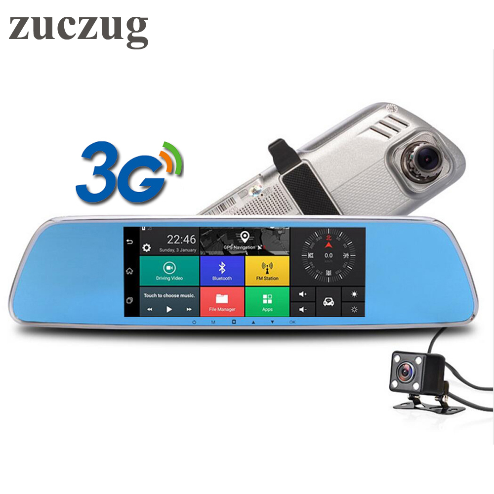 ZUCZUG 7 inch 3G Touch IPS Car DVR Camera Rearview Mirror DVRs GPS Bluetooth WIFI Android 5.0 FHD 1080p Video Recorder Dash Cam