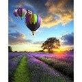 Картина по номерам DIY  Прямая поставка  50x65 60x75 см  вертикальный фиолетовый шар  пейзаж  холст  свадебное украшение  художественное изображени...