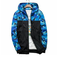 9ef8a402e46 New Camouflage Jacket Men Plus Size Camo Hooded Windbreaker Jackets  Military Canvas Jacket Parka Fashion Streetwear