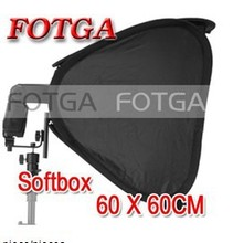 Оптовая продажа 24 «Портативный 60 см Softbox софтбокс для вспышки света вспышки Speedlite фото вспышки