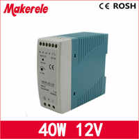 LED driver 40w Mini Size Power Supply Din Rail ac dc switching power supply 12v 3.4a Mdr-40-12