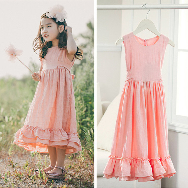 Retail 3T to 12 years kids & teenager big girls beige pink ...