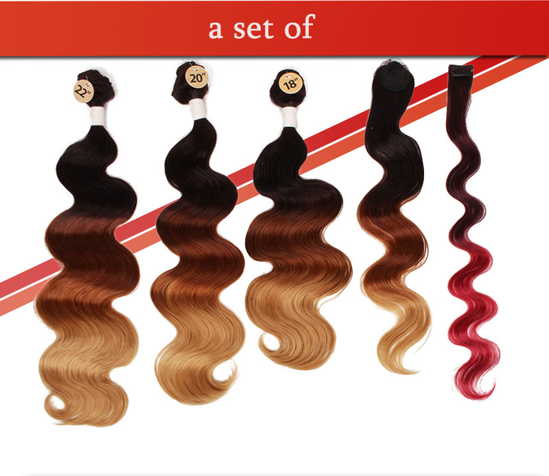 Body Wave brazilian natural wave Eunice hair  ombre synthetic hair  (5)