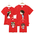Summer 2017 cotton t-shirt Patchwork mother mommy and me daughter father baby clothes matching family clothing sets family look