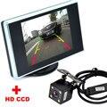 Помощи При Парковке авто 4LED Ночного Видения Автомобиля CCD камера Заднего Вида камера С 3.5 дюймов Цветной ЖК-Монитор Автомобиля Видео резервного копирования камера