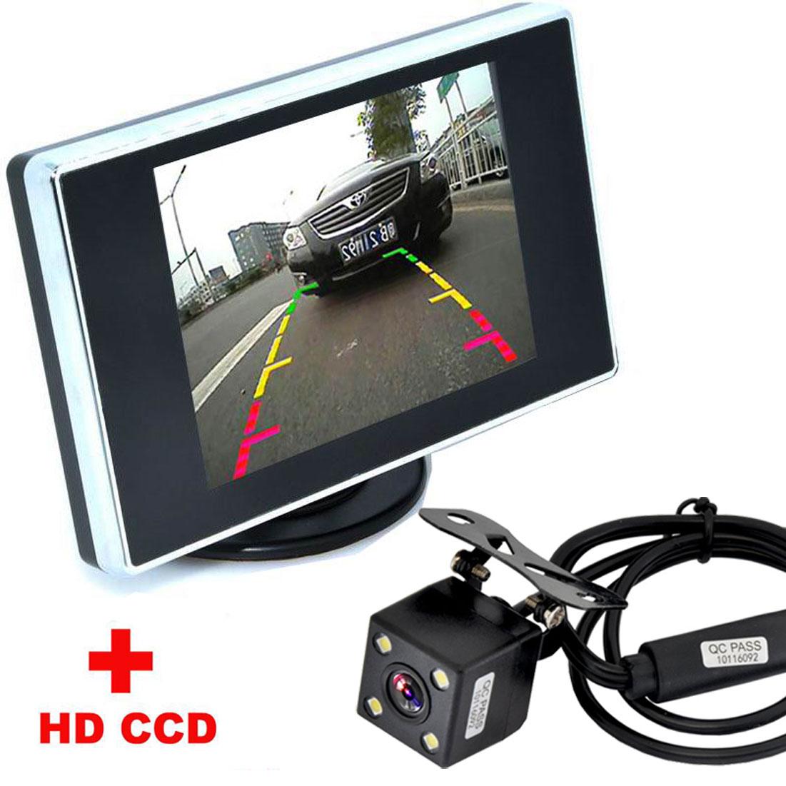 ⑥Assistência De Estacionamento Auto 4LED Night Vision CCD de ...