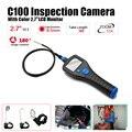 """Frete Grátis! C100 8.5mm 2.7 """"Endoscópio Endoscópio Inspeção Snake Camera Rotate Zoom Total de 3 Metro"""