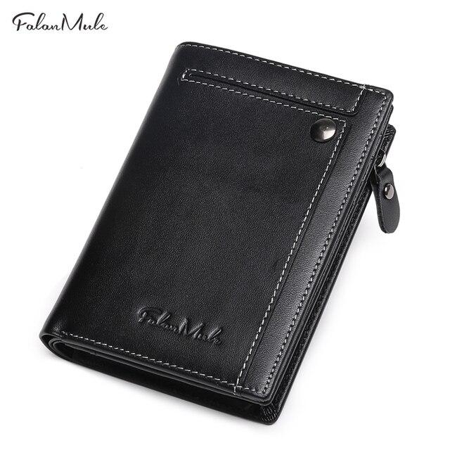 2018 Новое поступление модные короткие кошелек Для мужчин из натуральной кожи Для мужчин 'кошелек мужской карман на молнии Малый Для мужчин кошелек портмоне Portfel
