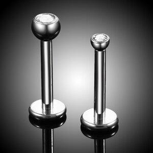 Image 4 - 50 stks/partij Titanium Piercing Lip Rings Earring Tragus Piercing Orelha Cartilagem Helix Piercings Kraakbeen Piercings Lichaam Sieraden