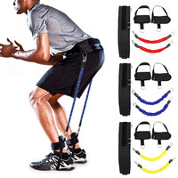 Resistance band fitness bouncing Trainer rope basketball tennis Running jump leg strength training agility pull strap equipment