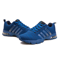 Plus Size Men Sneakers Men Shoes White Casual Shoes Flats Mesh Air Cushion Trainer Light Grey Red Blue Black Lace Up Shoes 39 46