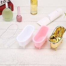 Make Up Storage Box Nail polish Storage Gold Bathroom Makeup Accessories Mini Ba