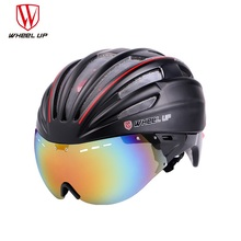 WHEEL UP New Integrally Aerodynamic EPS Lens Cycling Helmet Ultra-Light Mountain Bike Helmet MTB Bicycle Helmet Bike Accessories