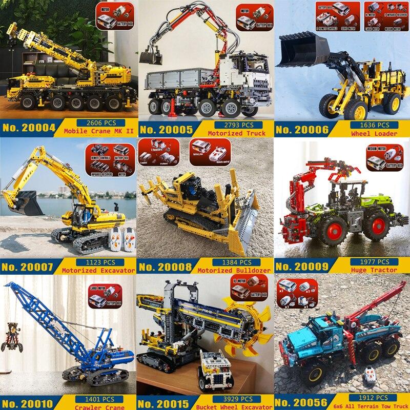 Technique Voiture Blocs De Construction 20004 20005 20068 20056 20059 20020 20017 20019 20013 20019 20059 Motorisé Briques LegoINGlys Jouets