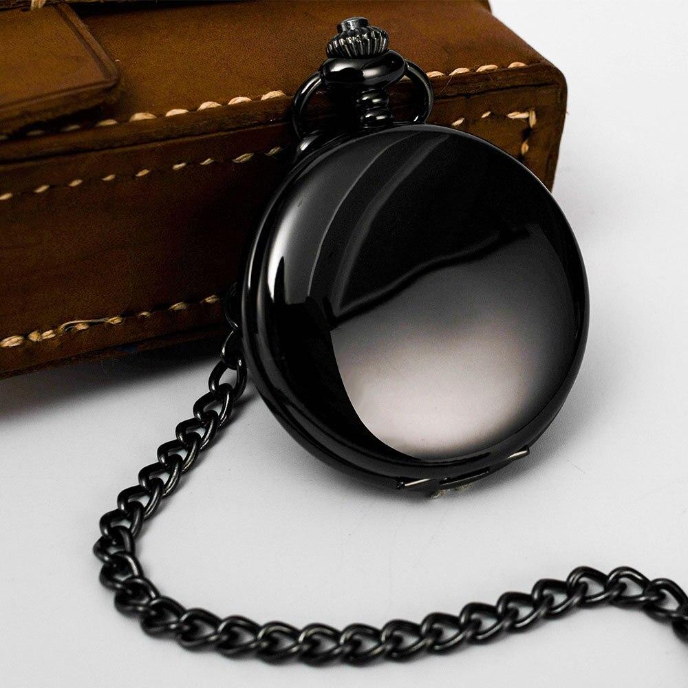 Luxury Pocket Watch Glossy Laser Lettering Vintage Two-Faced Quartz Pocket Watch Bo Shiya Casual Pocket Watch
