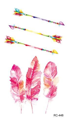 Waterproof Temporary Tattoo beautiful arrow feathers tatto stickers flash tatoo fake tattoos for girl women lady
