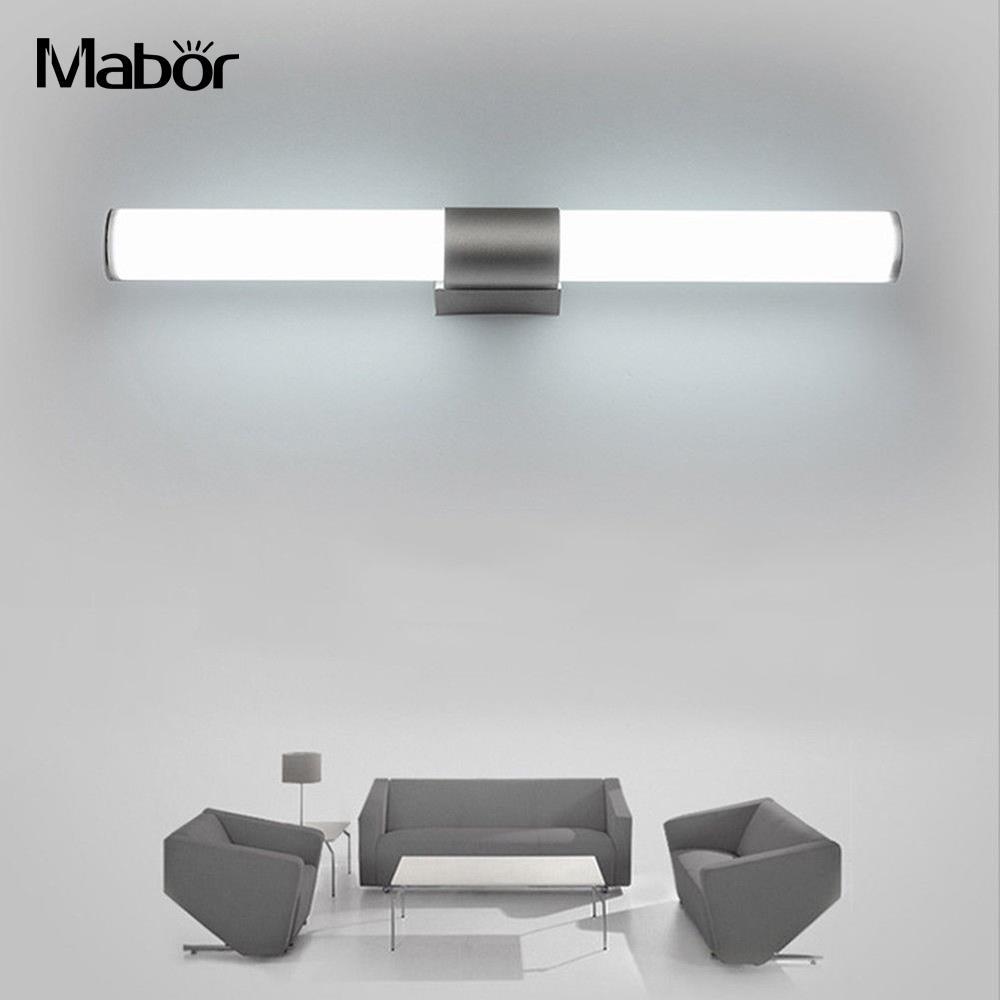 Bathroom Vanity LED Fashion Showers Acrylic + Aluminum Fixture Waterproof Led Light Mirror Lamp Kitchen Wardrobe