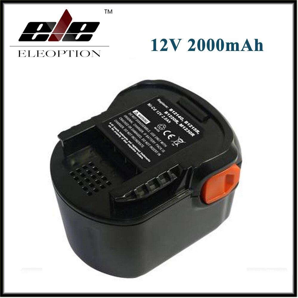 AEG 12VB Power Tool Battery 12V 2000mAh 2.0 Ah Ni-CD For B1214G,B1215R,B1220R,M1230R,BS12G,BS12X,BSB12G,BSB12STX,BSS12RW аккумулятор для aeg ni cd b1215r b1214g b1214 g b 1214g b 1214 g m1230r 0700 980 320 b1220r m1230r tb2112r 19c bs12g bs 12g