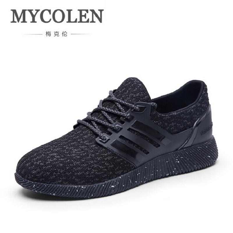 MYCOLEN New Fashion Casual Men Flat Sneaker Shoes Leather Breathable Men Lightweight Comfortable Outdoor Shoes Sapatos Homens 2017 new spring british retro men shoes breathable sneaker fashion boots men casual shoes handmade fashion comfortable breathabl