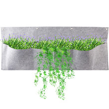 75*30cm Wall Planting Bags Waterproof Mount Planter Pouch Solution Hanging Garden With 3 Adjustable Size Pocket