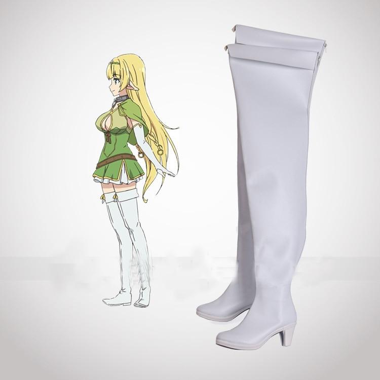 How NOT To Summon A Demon Lord Isekai Maou To Shoukan Shoujo Dorei Majutsu Shera L Greenwood White Cosplay Shoes Boots