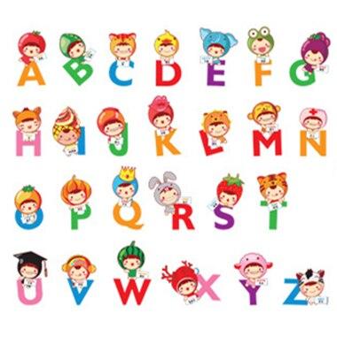 26 Boneca Dos Desenhos Animados Adesivos Coloridos Letras Bercario