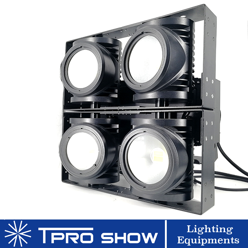 IP65 Stage Blinder 4 Eyes 4x100W COB Stage Lights Outdoor Audience Light Waterproof DMX Matrix LED Blinder For Lighting Show DJ