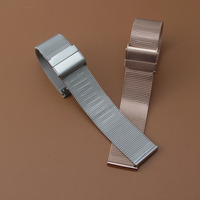 14mm 16mm 18mm 20mm Milanese Shark Mesh Metal Watchband Bracelet New 2017 For DW Watch Strap