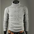 Sweater Men 2017 Brand Fashion Pullovers Casual Sweater Male Jacquard High Lapel Slim Mens Sweaters Man Pullover Men XXL