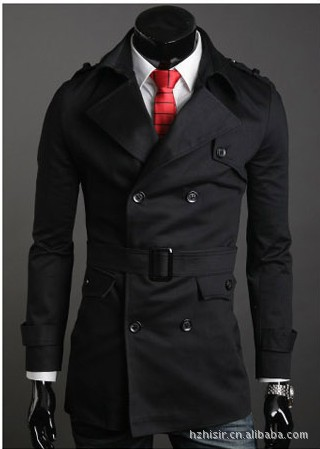 2018 Special Offer Cotton Full Solid Mens Trench Coat New Designer Men Long Autumn Winter Double-breasted Windproof Windbreaker