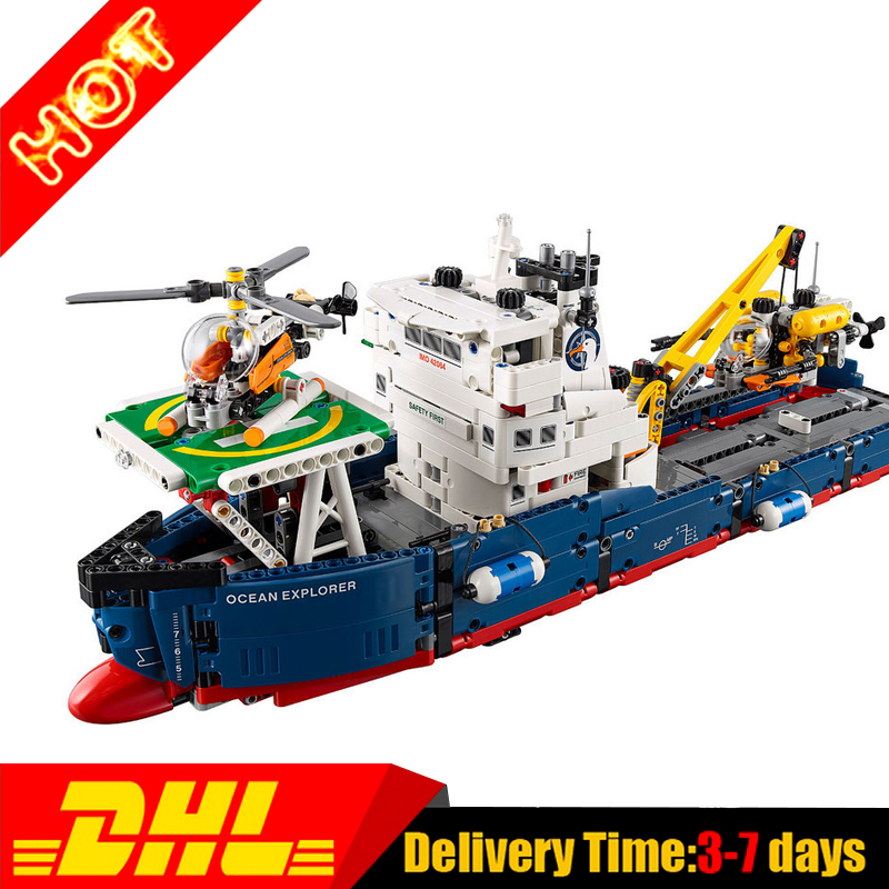 Lepin 20034 Genuine Technic Series Remote-control The Searching Ship Set Building Blocks Bricks Toys 42064 lepin 20054 4237pcs the moc technic series the remote control t1 classic volkswagen camper set 10220 building blocks bricks toys