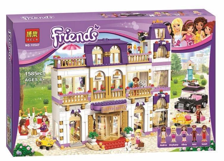 ФОТО BELA 10547 Girls Friends Heartlake Grand Hotel Figures Building Blocks Kid Model DIY Bricks Toys gift Compatible with bale