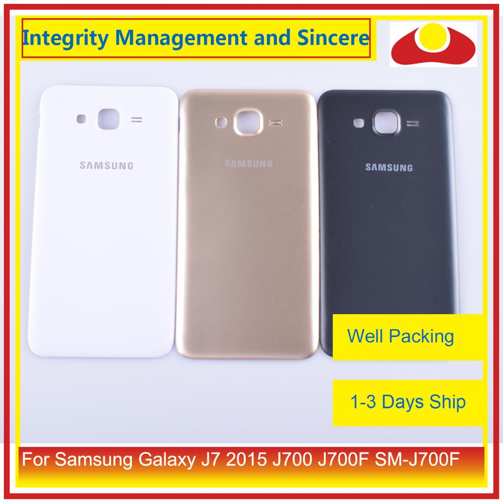 Image 4 - Original For Samsung Galaxy J7 2015 J700 J700F J700H J700M Housing Battery Door Rear Back Cover Case Chassis Shell-in Mobile Phone Housings & Frames from Cellphones & Telecommunications