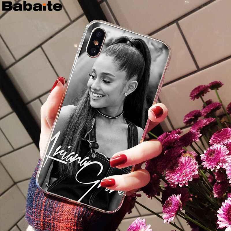 Babaite แมว Ar Ariana Grande Hot Fashion Fun สำหรับ iPhone 8 7 6 6 S Plus X XS สูงสุด 10 5 5 S SE XR Coque Shell